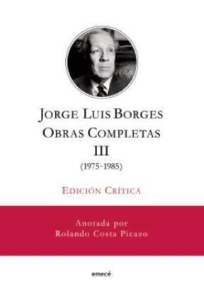 Papel J.L. Borges. Obras Completas Iii Edición Crítica