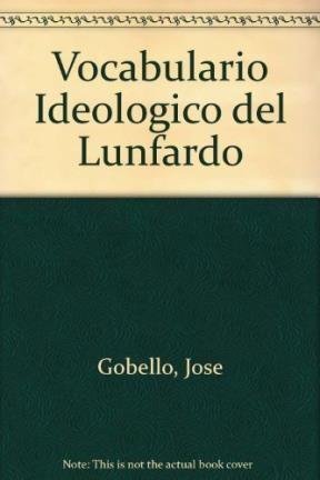 Papel Vocabulario Ideologico Del Lunfardo