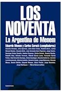 Papel NOVENTA LA ARGENTINA DE MENEM (COLECCION ENSAYO)
