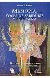 Papel MEMORIA, VOCES DE SABIDURIA Y ESPERANZA