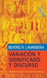 Libro Variacion Y Significado