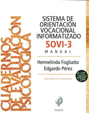 Papel Sistema De Orientacion Vocacional Informatizado Sovi-3 Manua