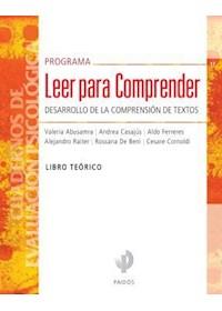 Papel Programa Leer Para Comprender- Libro Teórico
