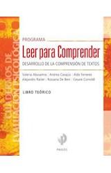 Papel PROGRAMA LEER PARA COMPRENDER DESARROLLO DE LA COMPRENSION DE TEXTOS LIBRO TEORICO