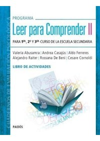 Papel Programa Leer Para Comprender Ii. Libro De Actividades