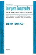 Papel PROGRAMA LEER PARA COMPRENDER 2 PARA 1ER 2O Y 3ER CURSO DE LA ESCUELA SECUNDARIA LIBRO TEORICO