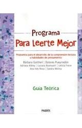 Papel PROGRAMA PARA LEERTE MEJOR [GUIA TEORICA] (CUADERNOS DE EVALUACION PSICOLOGIA 8068026)