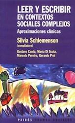 Papel Leer Y Escribir En Contextos Sociales Comple