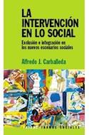 Papel INTERVENCION EN LO SOCIAL (COLECCION TRAMAS SOCIALES)