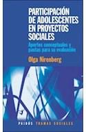 Papel PARTICIPACION DE ADOLESCENTES EN PROYECTOS SOCIALES (PAIDOS TRAMAS SOCIALES 75239)