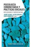 Papel PSICOLOGIA COMUNITARIA Y POLITICAS SOCIALES REFLEXIONES Y EXPERIENCIAS (TRAMAS SOCIALES 75268)