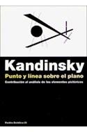 Papel PUNTO Y LINEA SOBRE EL PLANO CONTRIBUCION AL ANALISIS DE LOS ELEMENTOS PICTORICOS (ESTETICA 35025)