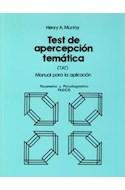 Papel TEST DE APERCEPCION TEMATICA [TAT] MANUAL PARA LA APLICACION (PSICOMETRIA Y PSICODIAGNOSTICO)