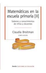 Papel MATEMATICAS EN LA ESCUELA PRIMARIA II