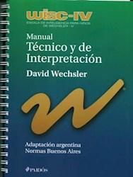 Libro Manual Tecnico Y De Interpretacion Wisc Iv