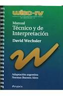 Papel MANUAL TECNICO Y DE INTERPRETACION (WISC IV) ADAPTACION ARGENTINA NORMAS BUENOS AIRES