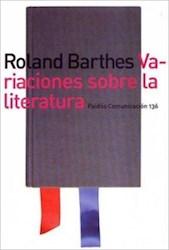 Papel Variaciones Sobre La Literatura
