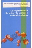 Papel INEFECTIVIDAD DE LA LEY Y LA EXCLUSION EN AMERICA LATINA (LATINOAMERICANA 75009)