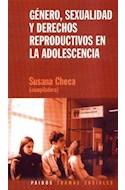 Papel GENERO SEXUALIDAD Y DERECHOS REPRODUCTIVOS EN LA ADOLESCENTES (TRAMAS SOCIALES 75220)