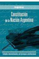 Papel CONSTITUCION DE LA NACION ARGENTINA CON TRATADOS INTERNACIONALES
