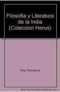 Papel FILOSOFIA Y LITERATURA DE LA INDIA (HORUS)
