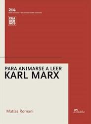 Papel Para animarse a leer Karl Marx