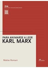 Papel Para Animarse A Leer Marx