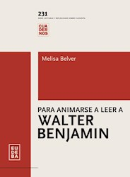 Papel Para animarse a leer Walter Benjamin