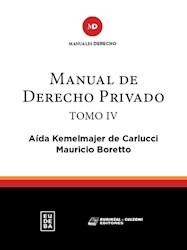 Papel Manual de derecho privado. Tomo IV