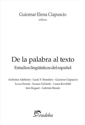 E-book De La Palabra Al Texto