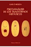 Papel PSICOANALISIS DE LOS TRASTORNOS HEPATICOS (ALIANZA ESTUDIO AE43)
