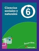 Papel CIENCIAS SOCIALES Y NATURALES 6 SANTILLANA RECORRIDOS (NOVEDAD 2013)