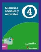 Papel CIENCIAS SOCIALES Y NATURALES 4 SANTILLANA RECORRIDOS (NOVEDAD 2013)