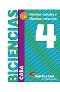 Papel BICIENCIAS 4 SANTILLANA EN MOVIMIENTO (CABA) (CIENCIAS SOCIALES / CIENCIAS NATURALES) (NOVEDAD 2018)