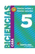 Papel BICIENCIAS 5 SANTILLANA EN MOVIMIENTO (CABA) (CIENCIAS SOCIALES / CIENCIAS NATURALES) (NOVEDAD 2018)