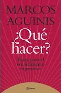 Papel QUE HACER BASES PARA EL RENACIMIENTO ARGENTINO