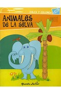 Papel ANIMALES DE LA SELVA (CALCA Y COLOREA)
