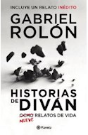 Papel HISTORIAS DE DIVAN NUEVE RELATOS DE VIDA (INCLUYE UN RELATO INEDITO)