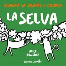 Papel Levanta Las Solapas Y Colorea - La Selva