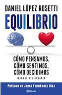Papel EQUILIBRIO COMO PENSAMOS COMO SENTIMOS COMO DECIDIMOS MANUAL DEL USUARIO