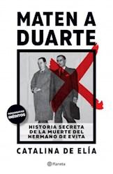 Libro Maten A Duarte