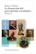 Papel FORMACION DEL PENSAMIENTO SOCIOLOGICO (TOMO I)