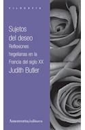 Papel SUJETOS DEL DESEO REFLEXIONES HEGELIANAS EN LA FRANCIA  DEL SIGLO XX (SERIE FILOSOFIA)