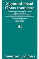 Papel OBRAS COMPLETAS 3 (1893-1899) PRIMERAS PUBLICACIONES PSICOANALITICAS (1893-1899)
