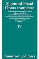 Papel OBRAS COMPLETAS 4 (1900) LA INTERPRETACION DE LOS SUEÑOS (PRIMERA PARTE) (1900)