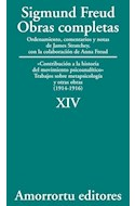 Papel OBRAS COMPLETAS 14 (1914-1916) CONTRIBUCION A LA HISTORIA DEL MOVIMIENTO PSICOANALITICO
