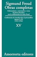 Papel OBRAS COMPLETAS 15 (1915-1916) CONFERENCIAS DE INTRODUCCION AL PSICOANALISIS (PARTES I-II)