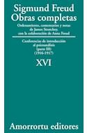 Papel OBRAS COMPLETAS 16 (1916-1917) CONFERENCIAS DE INTRODUCCION AL PSICOANALISIS (PARTE III) (1916-1917)