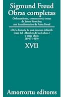 Papel OBRAS COMPLETAS 17 (1917-1919) DE LA HISTORIA DE UNA NEUROSIS INFANTIL (EL HOMBRE DE LOS LOBOS)