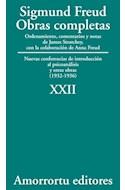 Papel OBRAS COMPLETAS 22 (1932-1936) NUEVAS CONFERENCIAS DE INTRODUCCION AL PSICOANALISIS Y OTRAS OBRAS